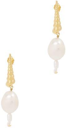 Anni Lu Turret pearl-embellished earrings