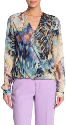 Fifteen-Twenty Tie Dye Print Crossover High/Low Blouse