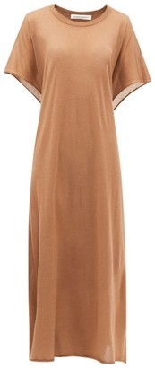 Extreme Cashmere No.139 Caftan Tie-back Cashmere Maxi Dress - Light Brown
