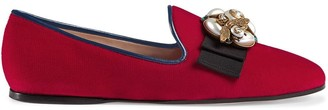 Gucci Velvet ballet flat with bee