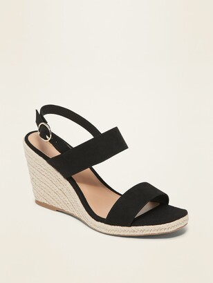Old Navy Faux-Suede Espadrille Wedge Sandals for Women