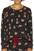 PJ Salvage Sloth Presents Thermal Fleece Pajama Top