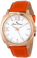 Lucien Piccard Women's LP-10032-RG-02-OR St. Tropez Stainless Steel Watch with Orange Leather Band