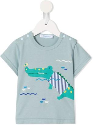 Familiar crocodile print T-shirt