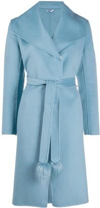 Liu Jo Tie Waist Wrap Coat