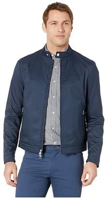 Michael Kors Nylon Racer Jacket (Midnight) Men's Clothing