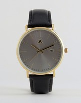 Asos Watch With Leather Strap and Date Window