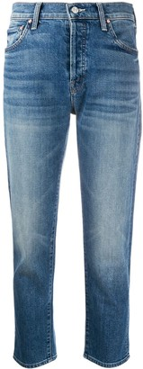 Mother Faded Straight Leg Jeans