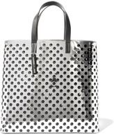 McQ by Alexander McQueen Void perforated mirrored-leather tote