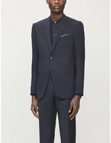 Emporio Armani Single-breasted M-line woven and wool-blend jacket