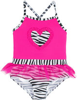 Asstd National Brand Wippette 1-pc. Zebra Tutu Swimsuit - Toddler Girls 2t-5t