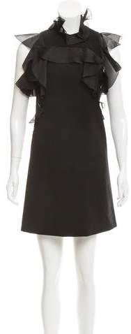 Giambattista Valli Ruffle-Trimmed Mini Dress