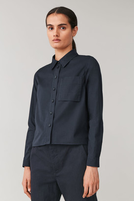 Cos Cropped Cotton Shirt