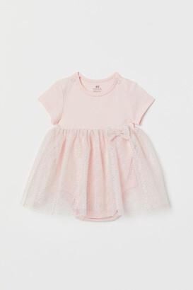 H&M Tulle-skirt bodysuit dress