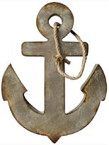 Home Decorators Collection 24 in. H x 18.5 in. W Metal Anchor Wall Art