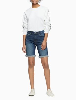 "Calvin Klein Cerveza Mid-Rise 7"" City Shorts"