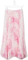 Roberto Cavalli tie dye pleated skirt - kids - Polyester/Acetate/Cupro - 14 yrs