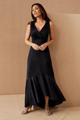 BHLDN Fairbanks Satin Dress By in Blue Size 0