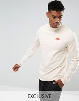 Ellesse Muscle Fit Long Sleeve T-shirt With Sleeve Print In Stone