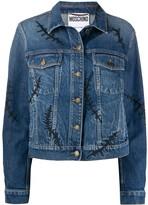Moschino Scars denim jacket