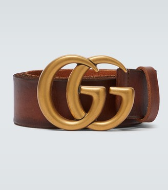 Gucci Leather belt with Double-G buckle