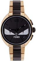Fendi Gold and Black Momento Bugs Watch
