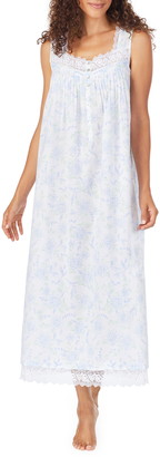 Eileen West Floral Print Cotton Nightgown