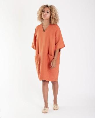 Beaumont Organic Bia Linen Dress Madder - XS / Madder