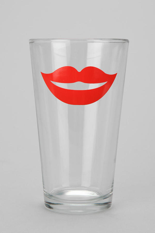 Urban Outfitters Lips Pint Glass