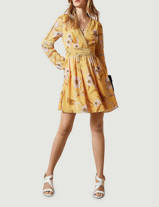 Ted Baker Posyy Cabana floral-print lace-trimmed woven mini dress