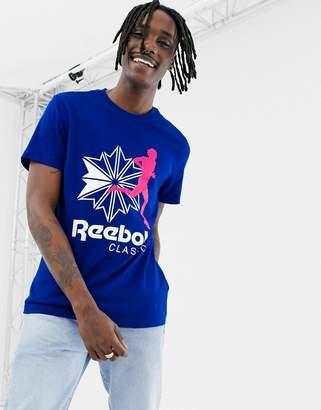 Reebok Classics Logo T-Shirt In Blue DX0141-White