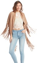 Sole Society Convertible Suedette Shawl With Fringe