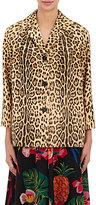 Valentino Women's Leopard-Print Calf Hair Blazer-Brown