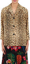 Valentino Women's Leopard-Print Calf Hair Blazer
