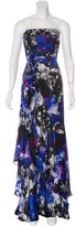Carmen Marc Valvo Silk Printed Dress