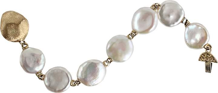 Yvel White Keshi Fresh Water Pearl Bracelet