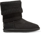 Australia Luxe Collective Fame ribbed-knit and shearling boots