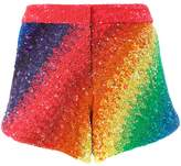 Manish Arora Rainbow striped shorts