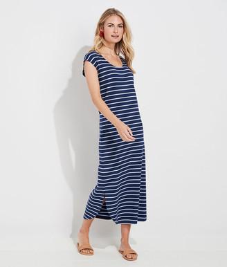 Vineyard Vines Striped Dolman Sleeve Maxi Dress