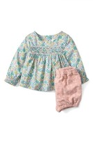 Toddler Girl's Mini Boden Pretty Print Tunic & Bloomers Set