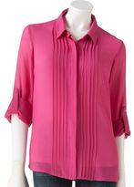 Lauren Conrad pintuck chiffon blouse