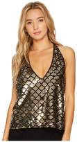 Bishop + Young Daniela Sequin Halter Women's Jumpsuit & Rompers One Piece