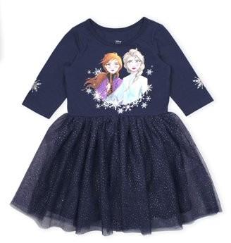 Disney Frozen 2 Anna Elsa Toddler Girl Glitter Tutu Dress