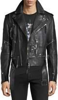Alexander McQueen Buffalo Leather Biker Jacket