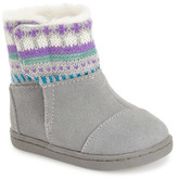 Toms Fair Isle Faux Fur Lined Nepal Boot (Baby & Toddler)