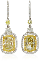 Martin Katz 18K White and Yellow Gold Diamond Earrings