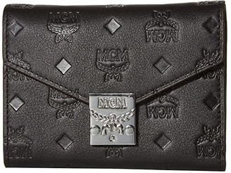 MCM Patricia Monogrammed Leather Flap Wallet/Trifold Small