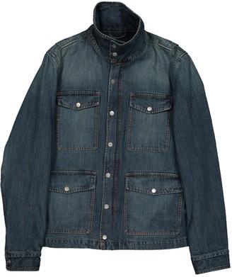 Ami Blue Cotton Jackets