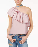 Endless Rose One-Shoulder Flounce Top