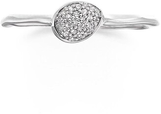Monica Vinader Siren Small Pave Diamond Stacking Ring